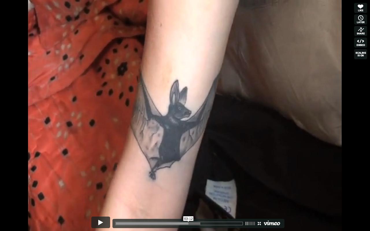 Kay Kasparhauser Goldberg's tattoo