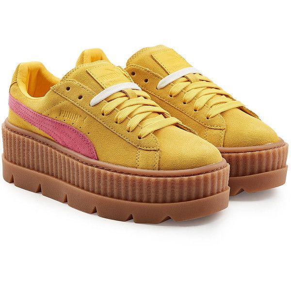 144a9a9a0c0 FENTY Puma by Rihanna The Cleated Creeper Sneakers (550 BRL) ❤ liked on  Polyvore featuring shoes