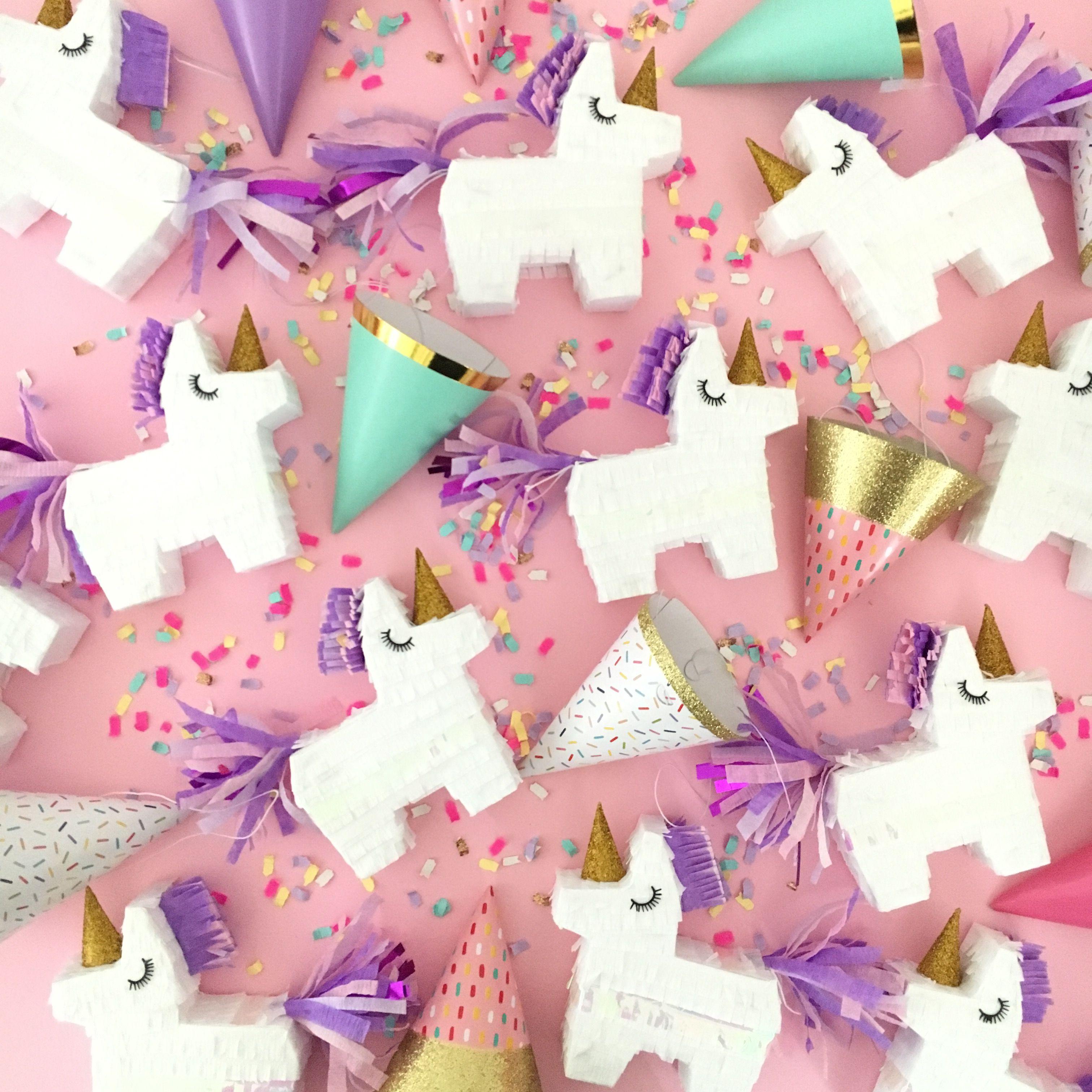 the original mini unicorn pinatas by Lula Flora, unicorn party favor ...