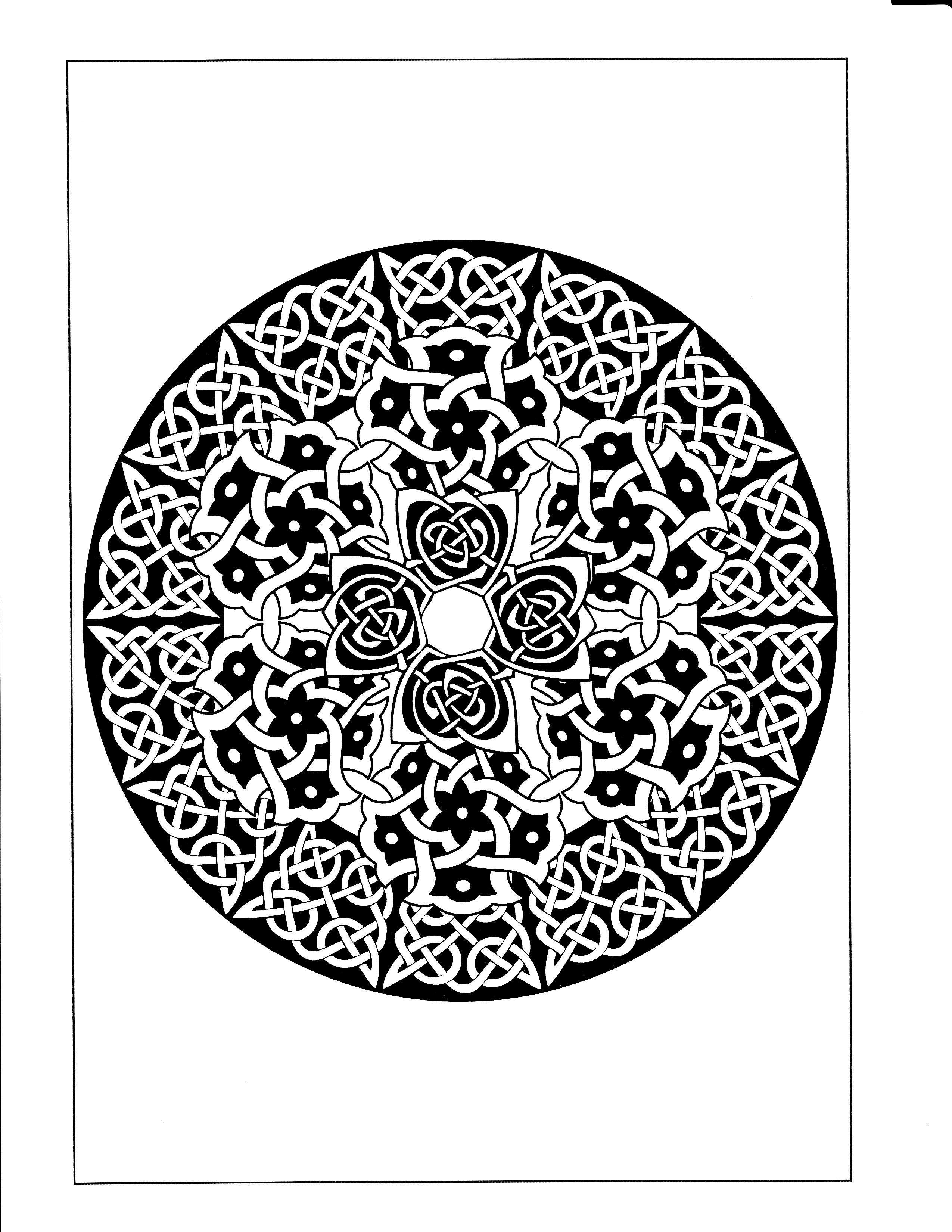 Celtic Mandala   Celtic Mandala Coloring Pages   Pinterest