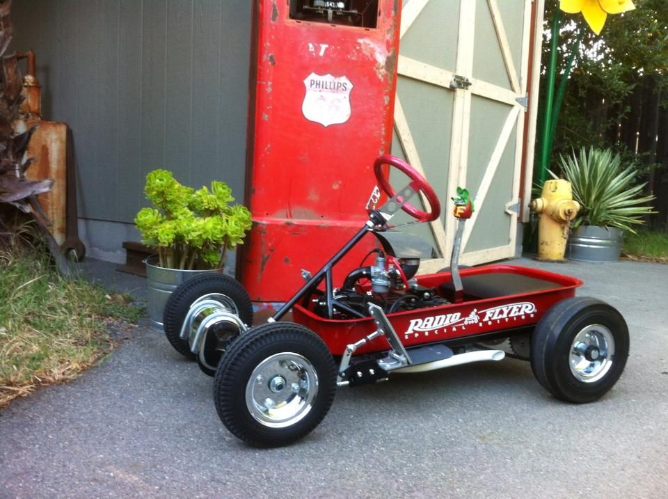 Radio flyer racer wow cameron pinterest radio for Golf cart plans
