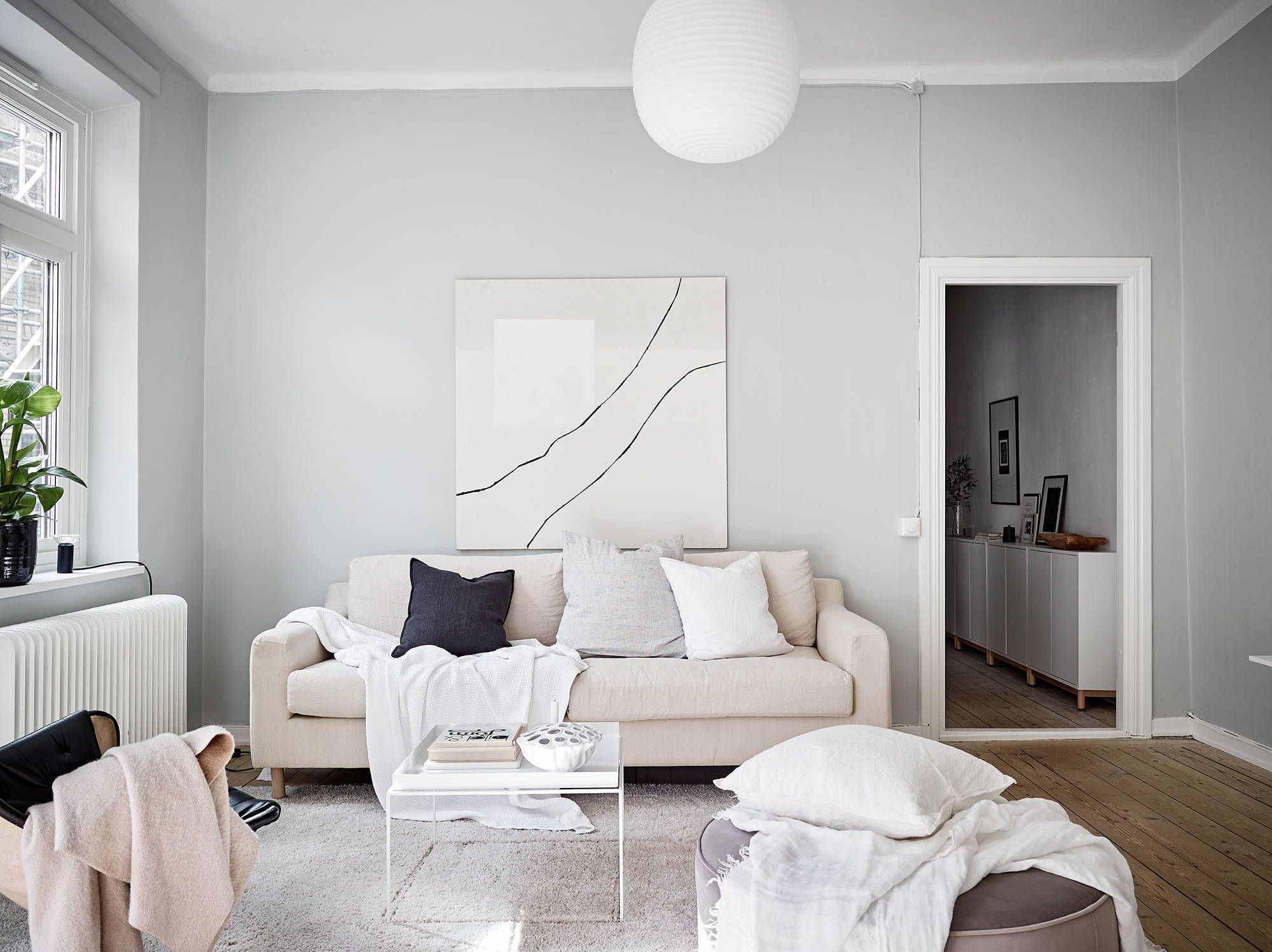 Sofaworks Reading Number Rattan Sofas Outdoor A Home In Beige And Grey Ideas Light Walls Used Separately But I Feel Like They Are Even Better When Combined Together This Cozy Inviting Apartment The Sofa Works