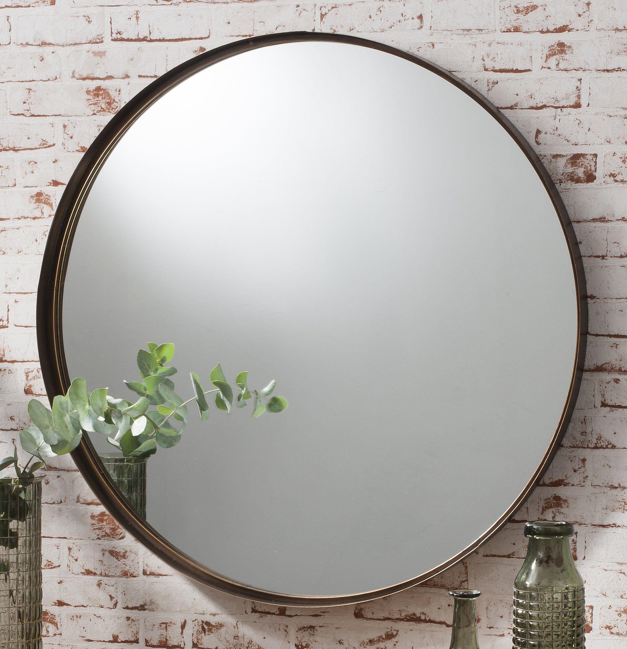 Greystoke Large Bronze Round Wall Mirror 33 Diameter Amazonco