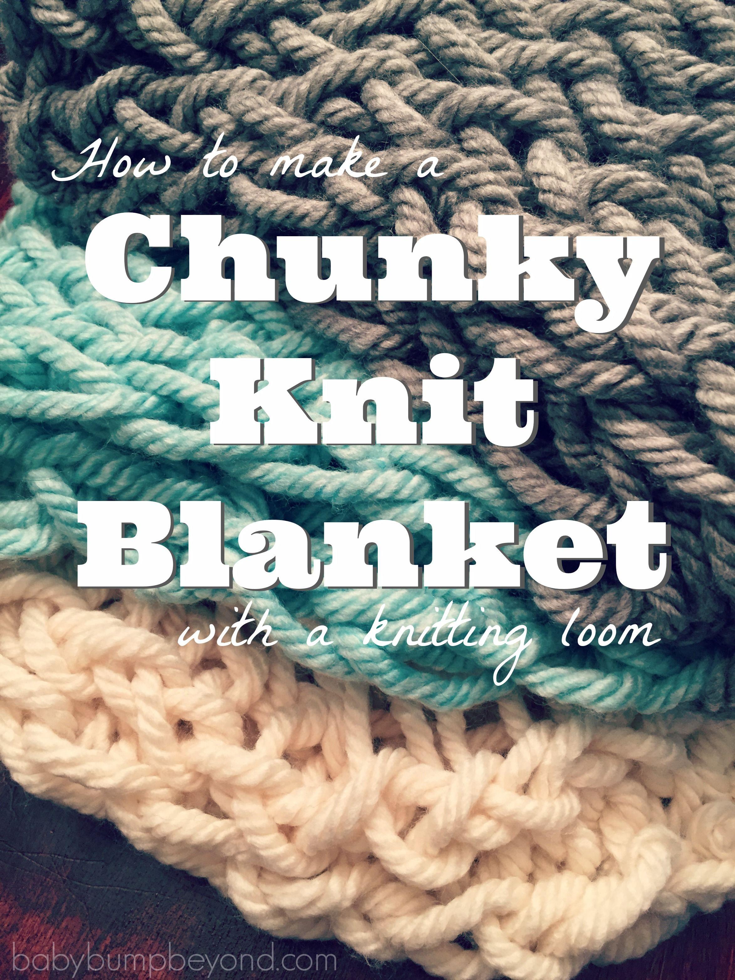 Baby Bump & Beyond: DIY Chunky Knit Blanket   CALCETA AQUÍ,CALCETA ...