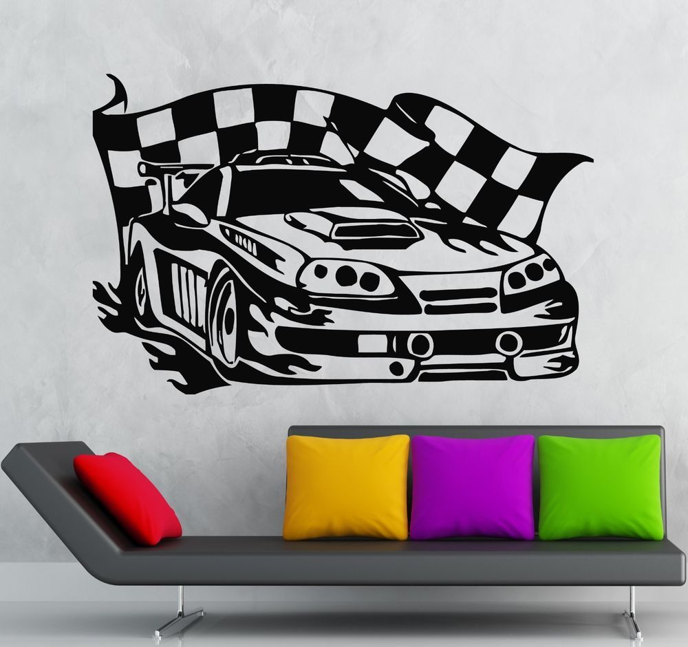 Details About Wall Sticker Vinyl Decal Sports Racing Car Race Rally Racer Garage Decor Ig596 Home Decor Catalogs Garage Decor Orange Home Decor [ 940 x 1000 Pixel ]