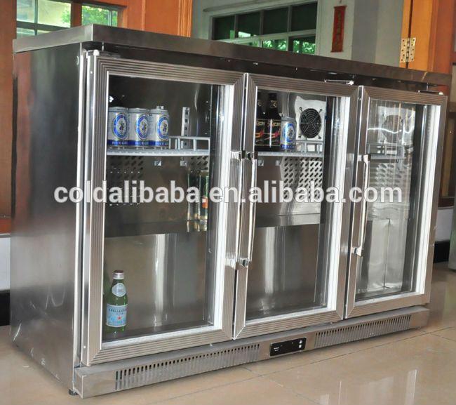 Counter Top Mini Bar Glass Door Fridge/ Bar Refrigerator   Buy 3 Doors  Commercial Refrigerator