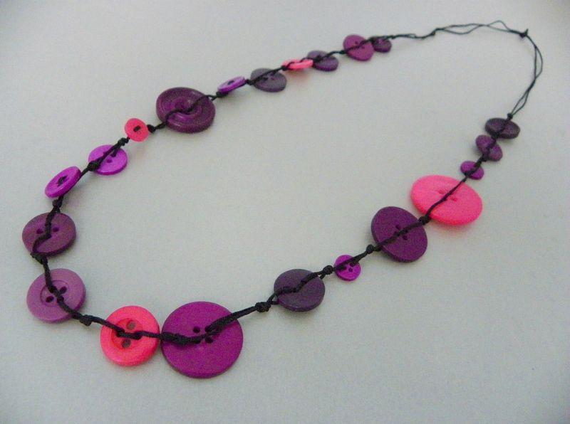 Boutons Bouton Collier RoseBijoux Violet De qMVpGSUz