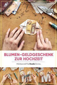 Origami-Schmetterling als Geldgeschenk. DIY Anleitung.