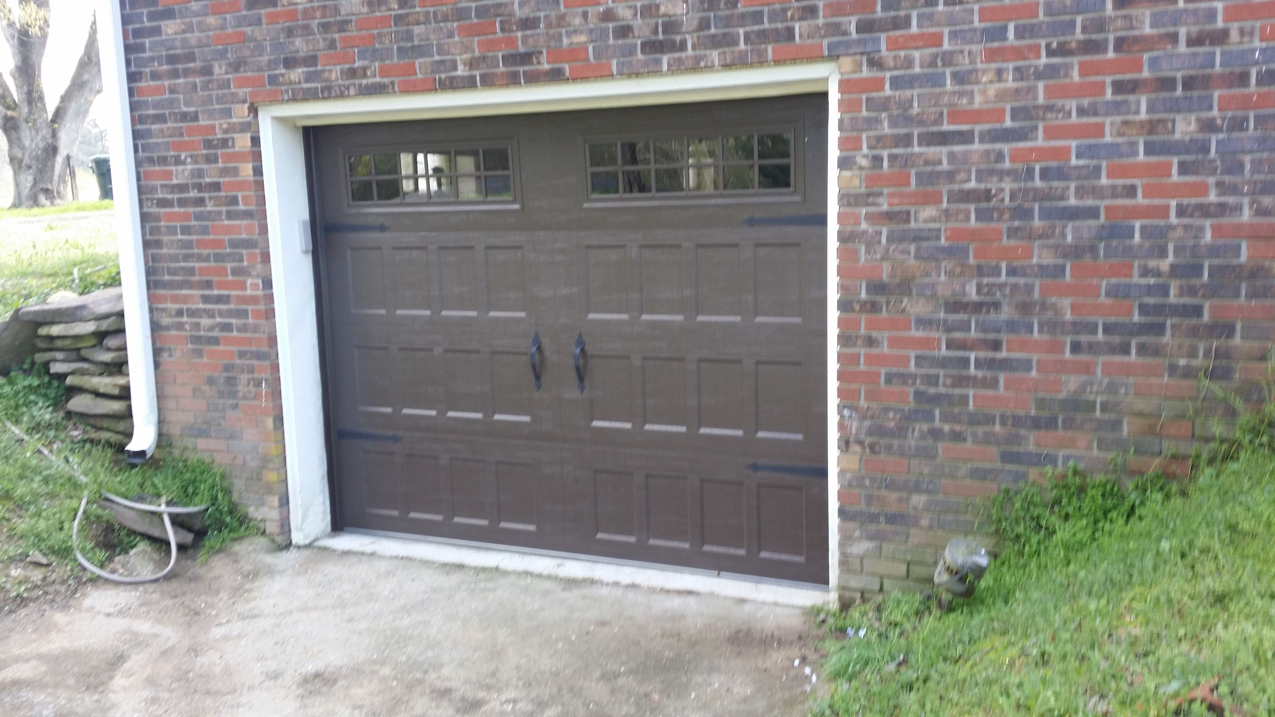 with portfolio garage story siding in cominations red mastic blackstone doors brown misty normal house edged dark and door shakes shadow trim straight il