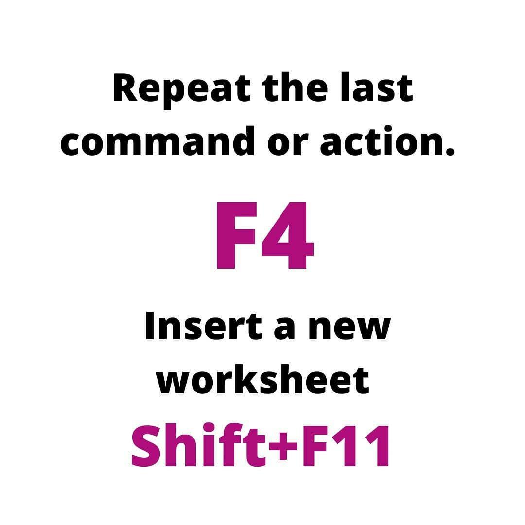 Excel Shortcuts In