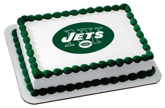 Magnificent Ny Jets Cake With Images Edible Icing Sheets Icing Sheet Cake Funny Birthday Cards Online Amentibdeldamsfinfo