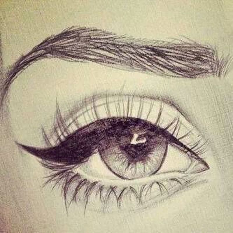 Sketch drawing eye art