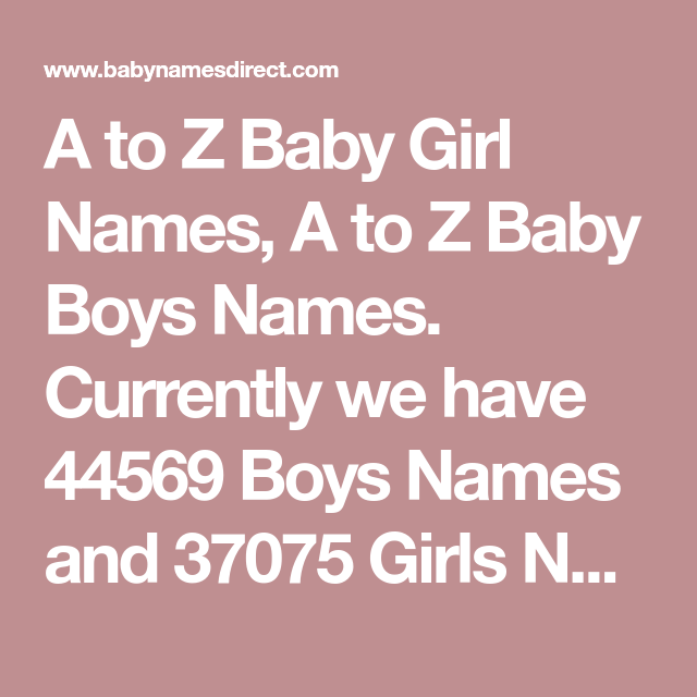 37d5473f1 A to Z Baby Girl Names