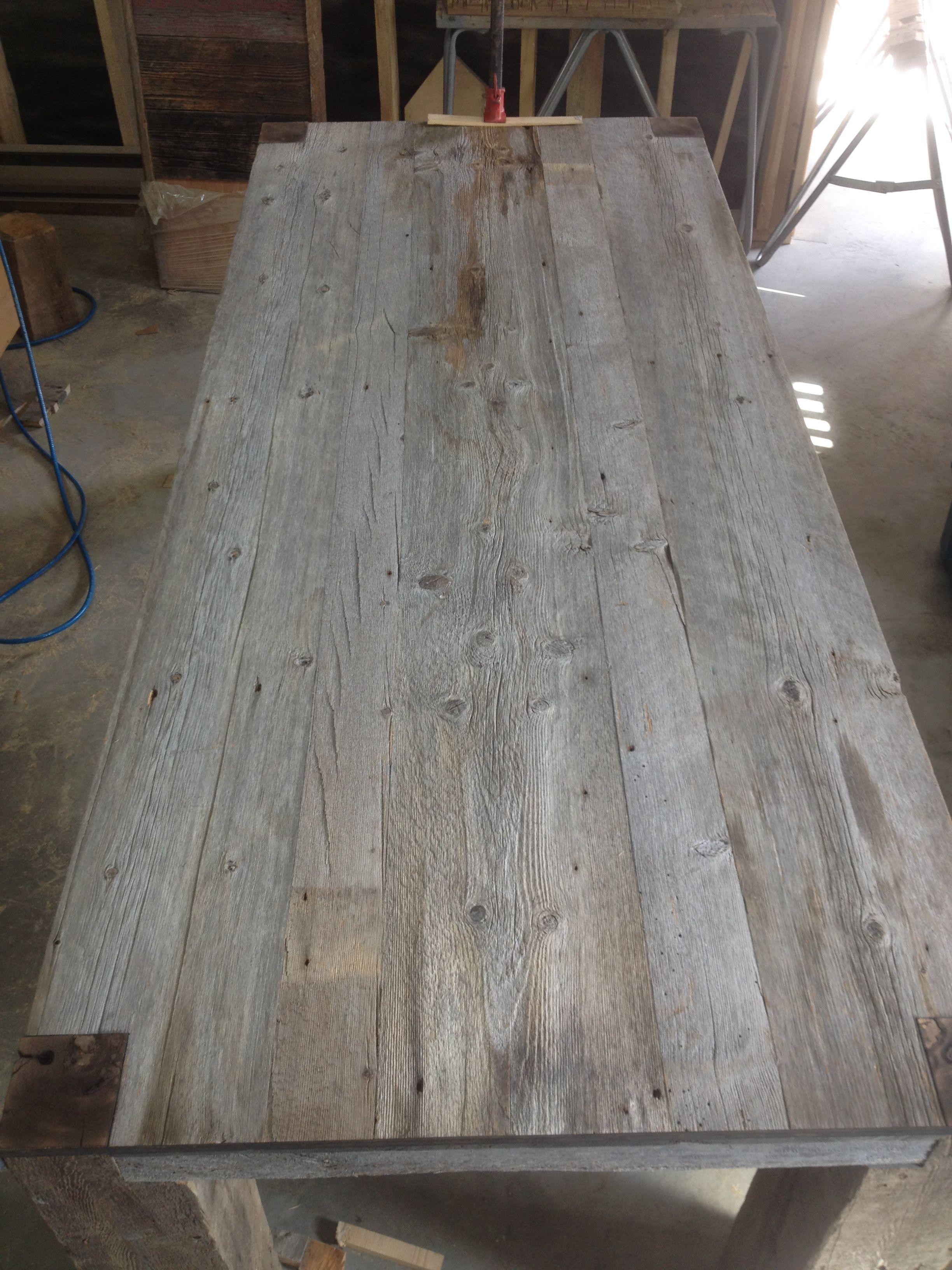 Table en bois de grange gris | Ma pièce | Table de salle à manger ...