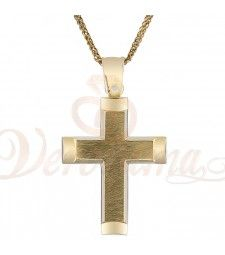 Σταυρός ανδρικός χρυσός Κ14 ST_115