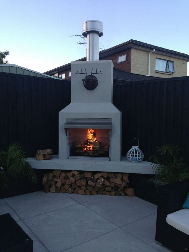 Plaster Outdoor Fireplace Google Search Outdoor Remodel
