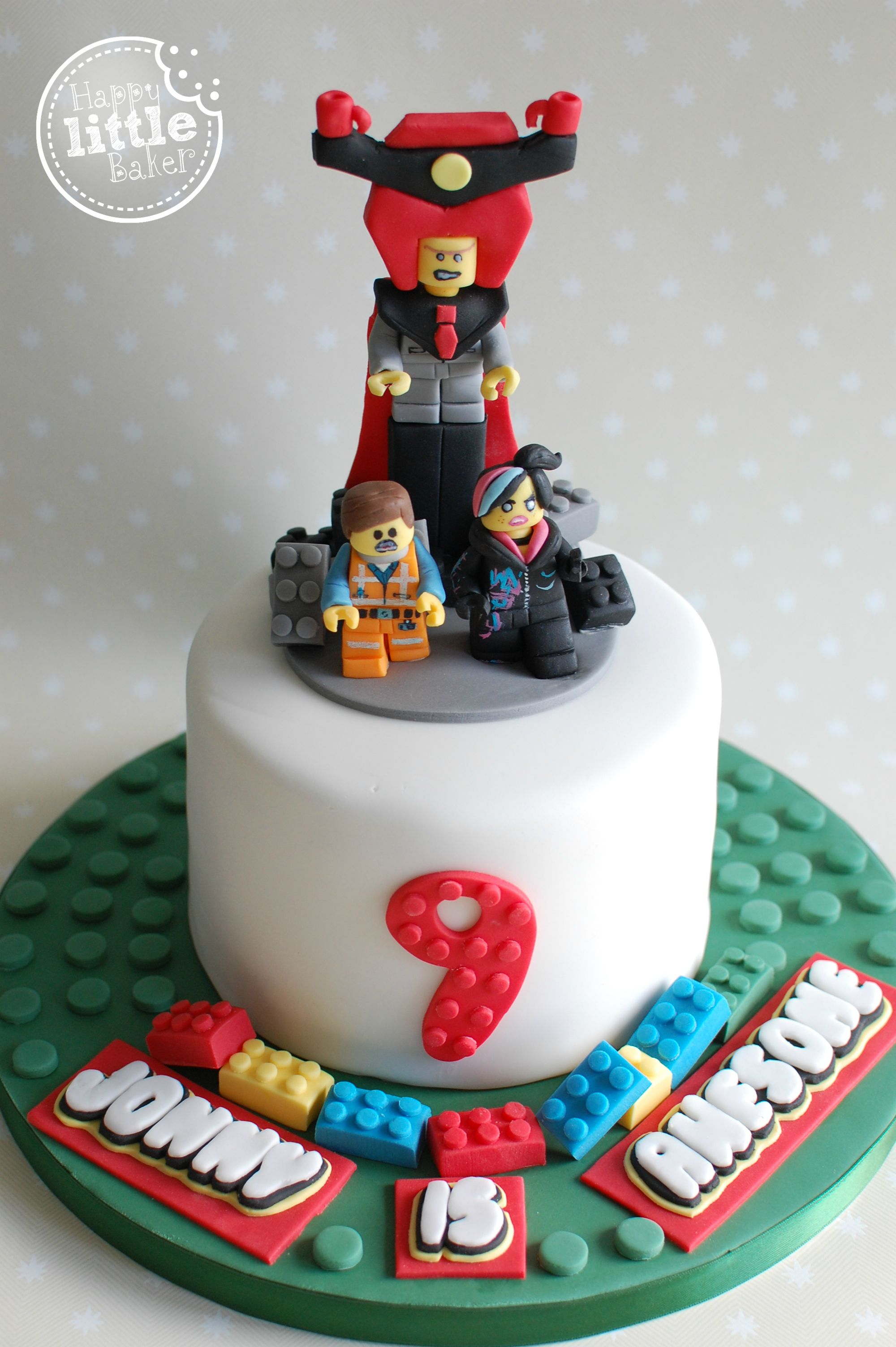 Admirable Lego Movie Themed Birthday Cake All Decorations Hand Made From Birthday Cards Printable Trancafe Filternl
