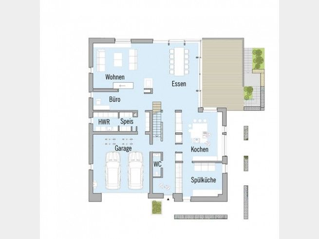grundriss eg bauhaus nilles #doppelhaus von baufritz. beide