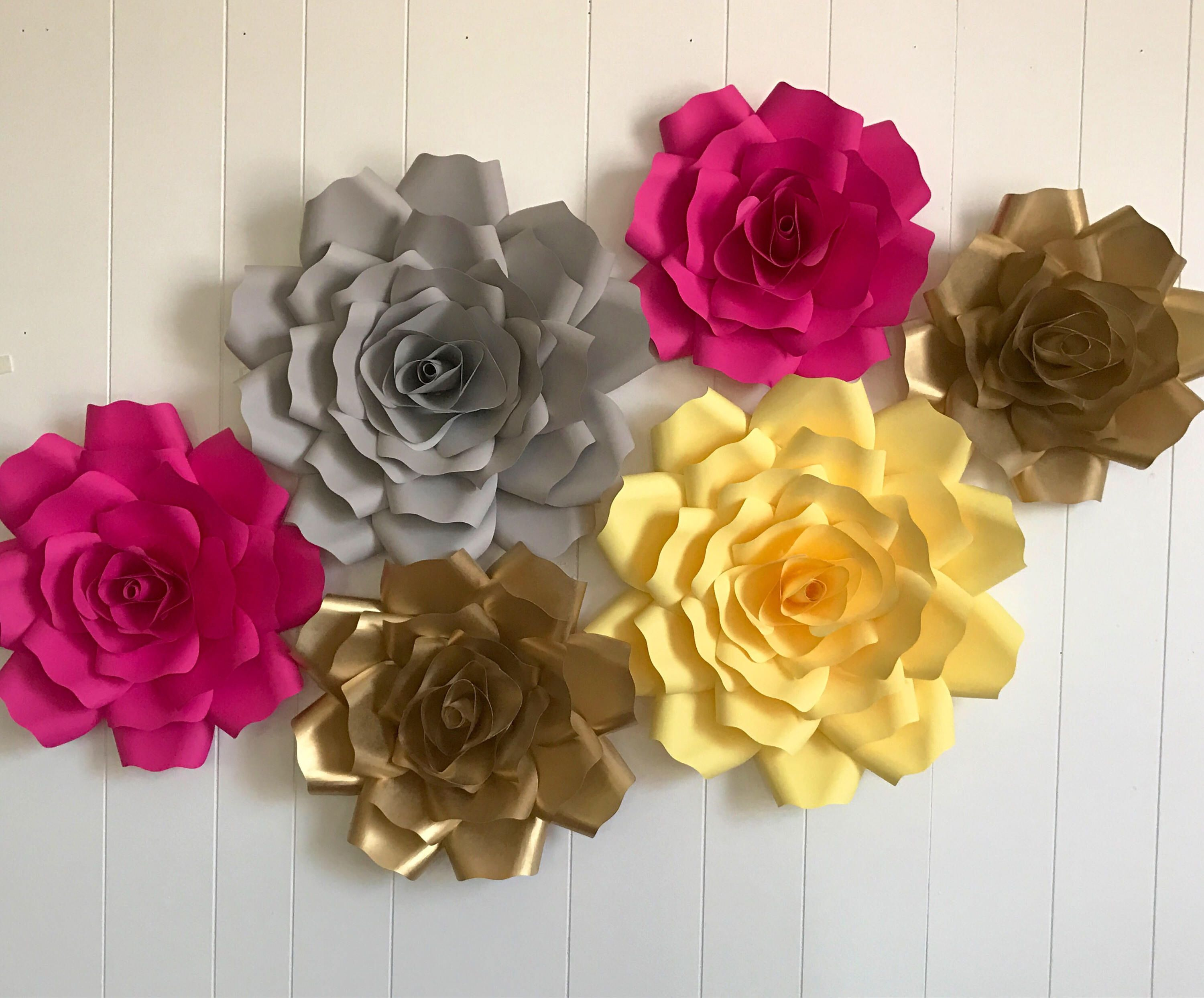 X Large Paper Flowers Set Giant Paper Flower Large Paper Flower