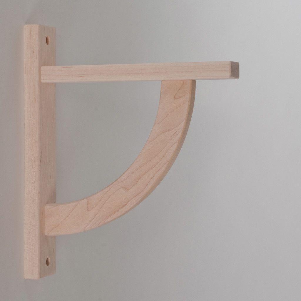 Kitchen Shelf Brackets Wood: Convex 10 Wood Shelf Bracket