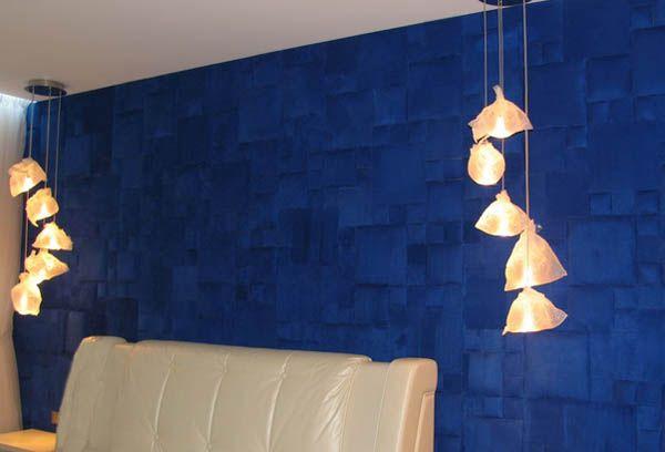 dark blue soft wall tiles for living room decorating - Living Room Wall Tiles Design