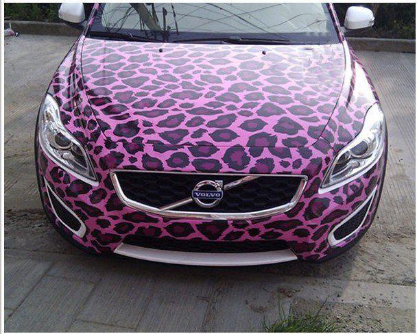 New Fashion Car Sticker Vehicle Adhesive Graphic Pink