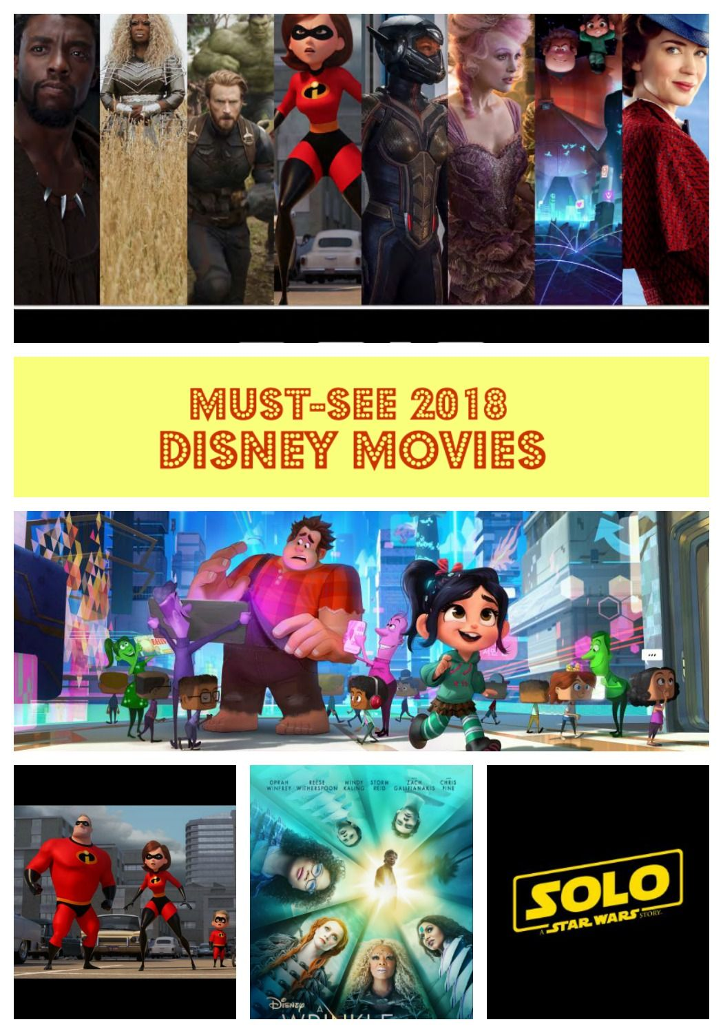 Don't Miss these Disney Movies Opening in 2018 Disney