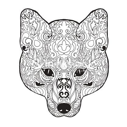 Coloriage Chien Fox.Epingle Par Cathy K Sur Coloriage Vie Sauvage Fox Coloring Page
