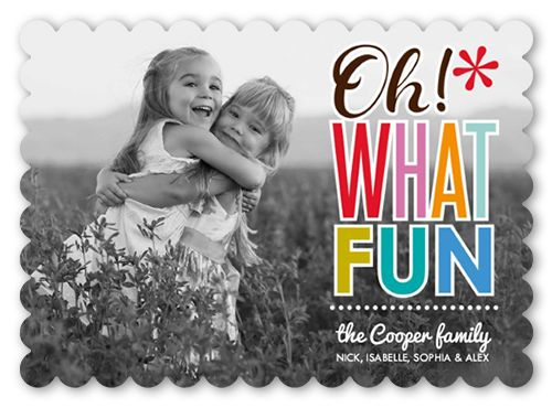 What Fun Type 5x7 Stationery Card by Erin Condren Shutterfly