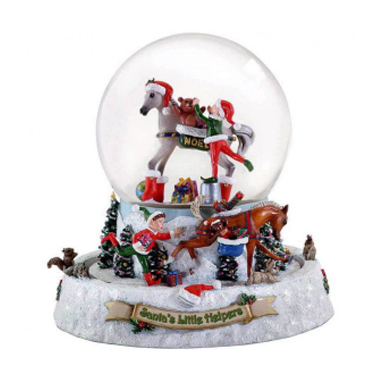 Musical christmas snow Globes,large snow globes