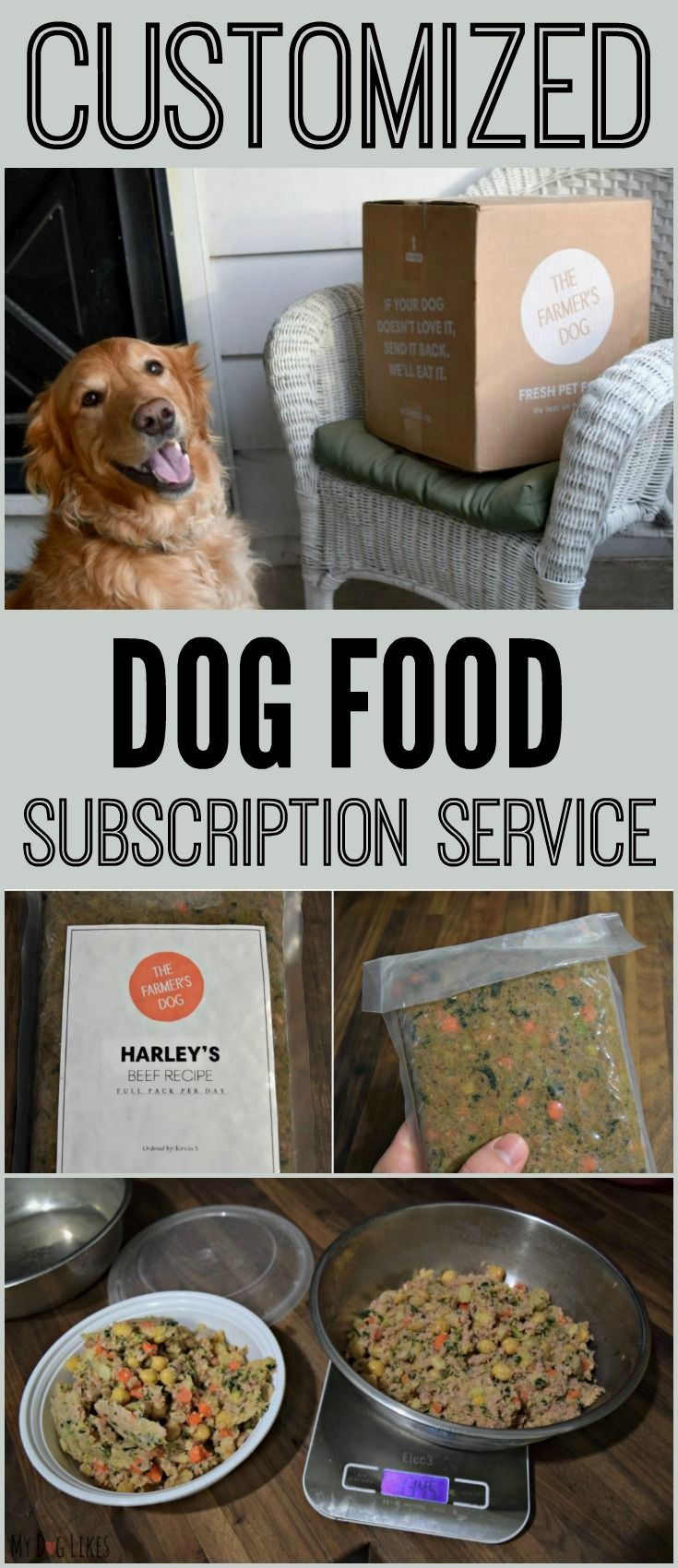 A dog food delivery service like the farmers dog can