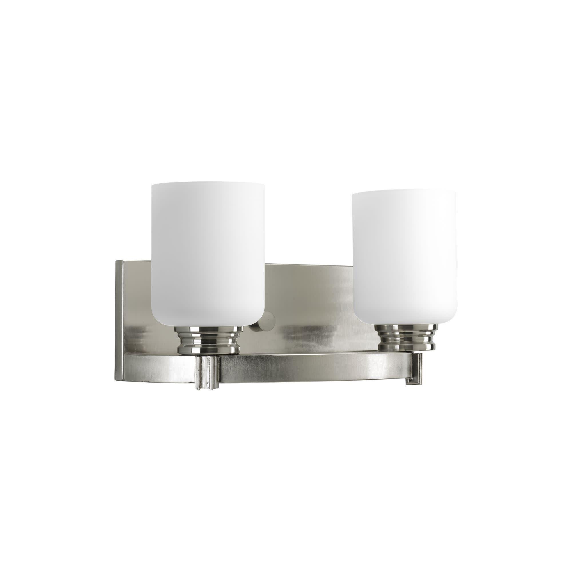 Photo of Progress Lighting P3057 Orbitz Two-Light Bathroom Fixture with White Opal Glass …