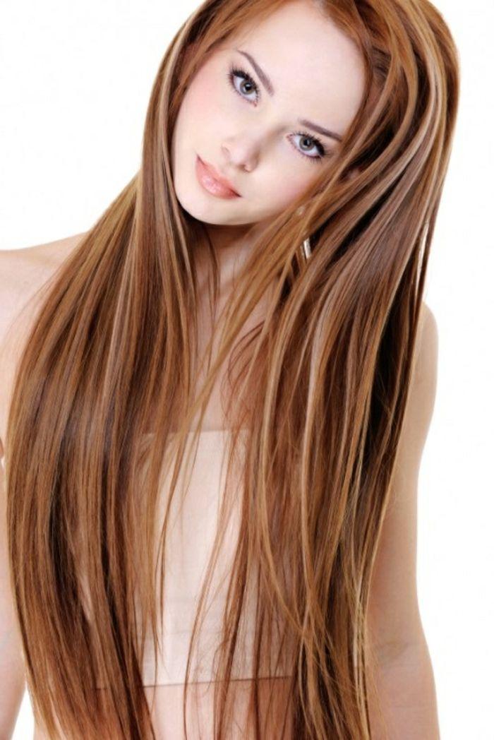 Super Schone Lange Glatte Haare Orange Farbe Haare Frisuren