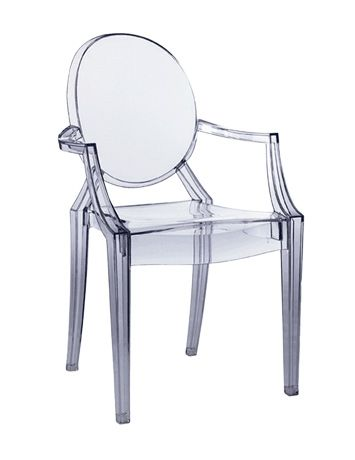 Ghost Chair - available to hire from www.d-zinefurniture.co.uk