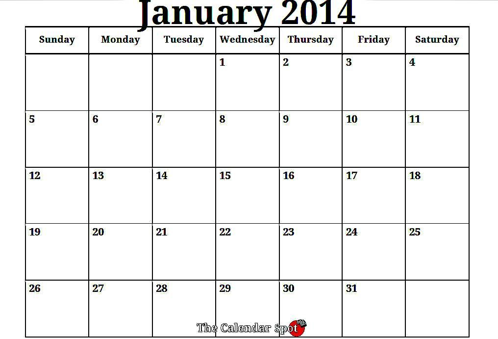 2014 Printable Monthly Planner 2014 Monthly Calendar Printable
