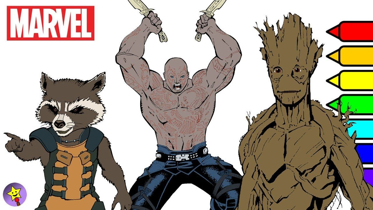 A compilation of Marvel Guardians of the Galaxy digital