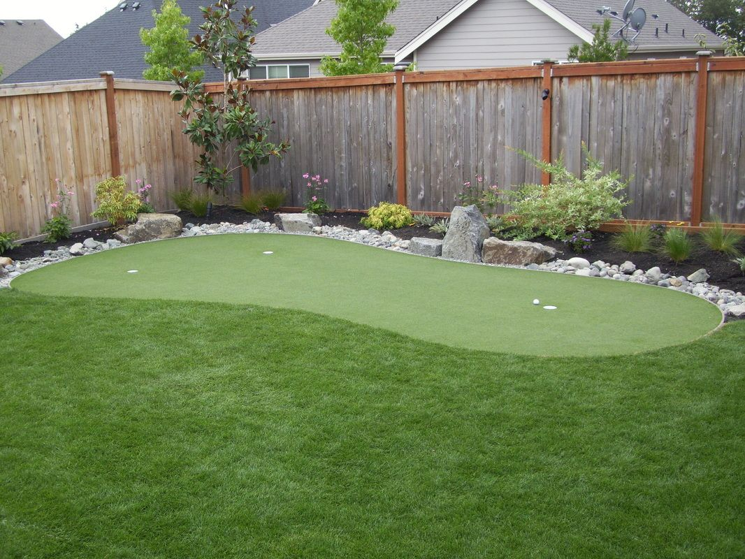 Pin by Dolores Brown on Outside | Backyard putting green ...