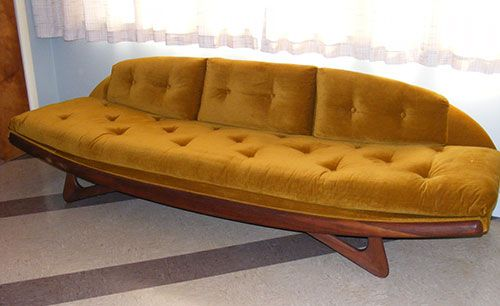 16 awesome vintage sofas from readers houses Mid century Mid
