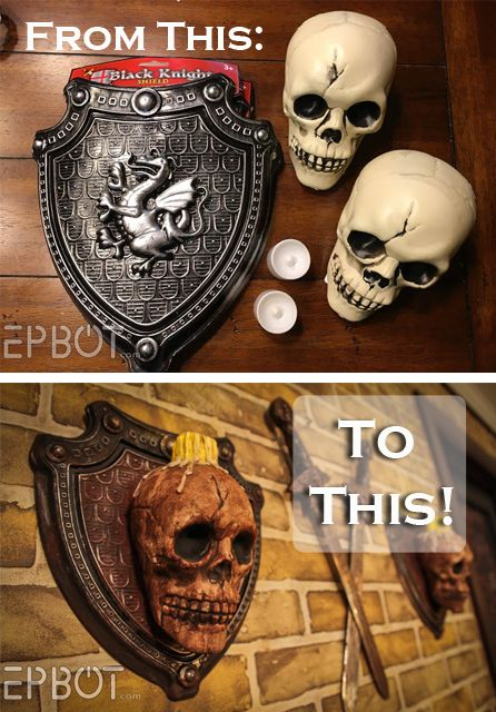 EPBOT DIY Skull Sconces For Halloween And/Or Your Guest Room