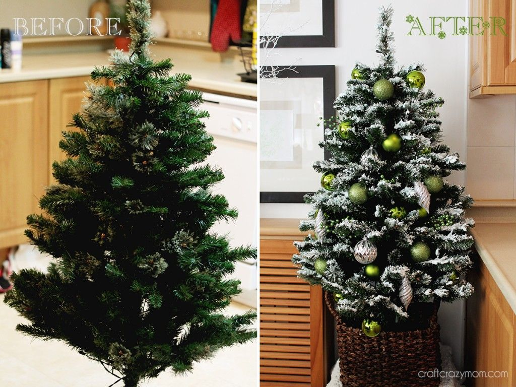 Diy tree flock tutorial using shaving cream cornstarch glue diy tree flock tutorial using shaving cream cornstarch glue glitter solutioingenieria