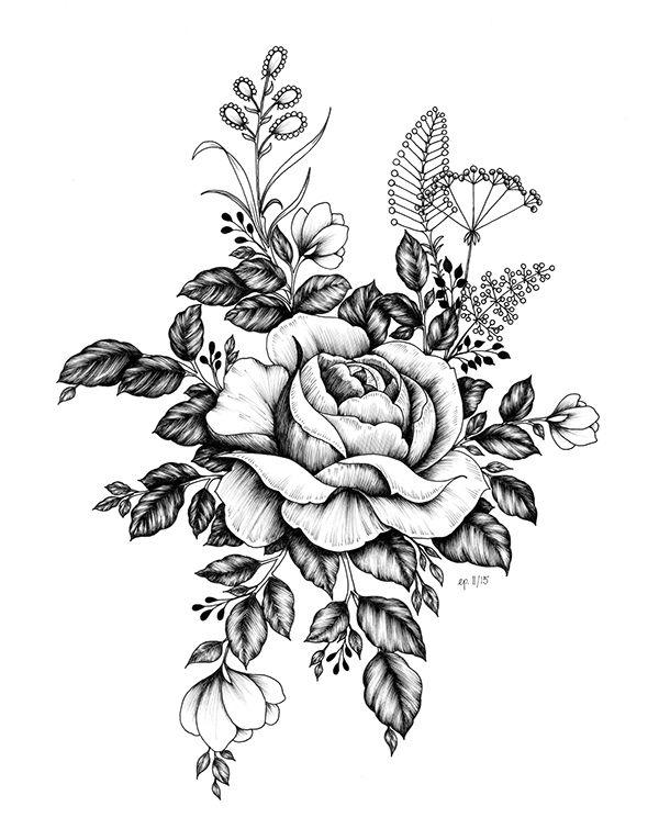 Pin De C Mc En Tattoos Pinterest Tatuajes Flores Y Dibujo