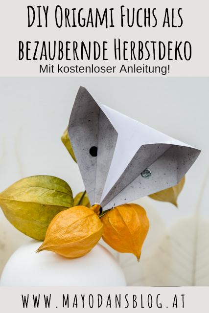 """Photo of DIY Einfache Origami Füchse als bezaubernde Herbstdeko und Buchvorstellung """"My scandinavian Home"""""""