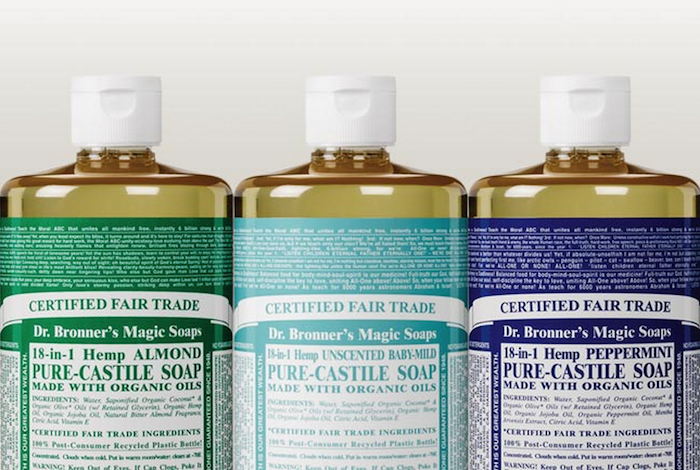 Another versatile travel product is Dr. Bronner's Magic Soaps, which can be used as body wash, laundry detergent and everything in between. Via @herpackinglist.