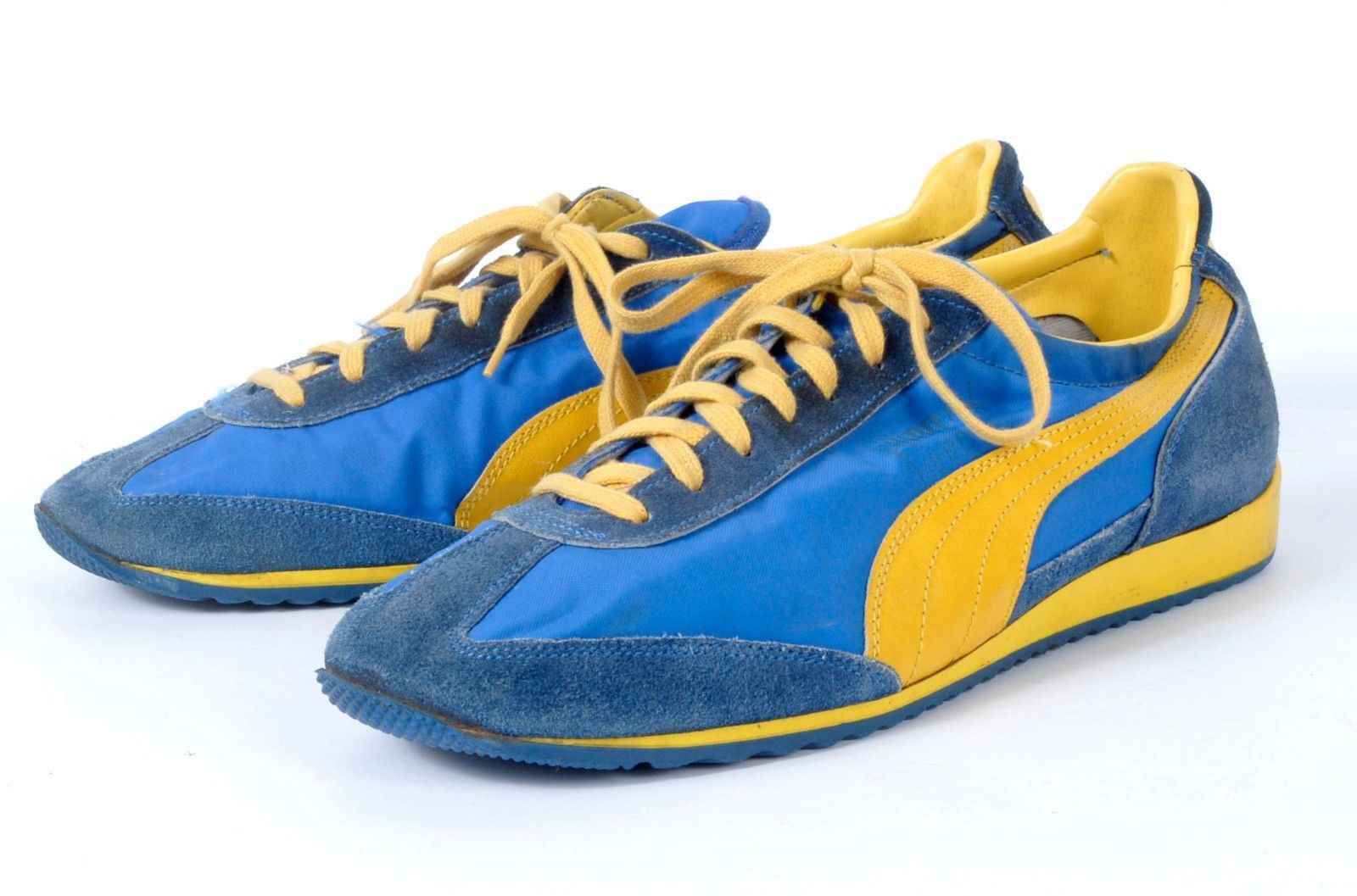 370a8db84d Vintage 70s Puma Cyclone Running Sneakers Blue & Yellow | The ...