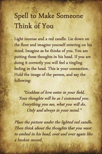 White Magic To Make Someone Think Of You | Ritual Magic