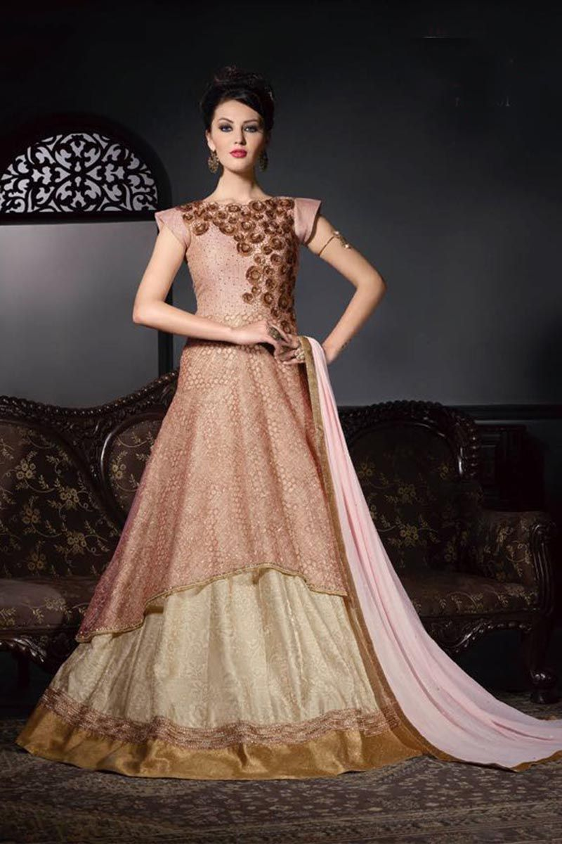 918052fe501 Fabric  Georgette and Net Product Type  Gown Style  Anarkali Work   Embroidered Type  Semi Stiched WHATSAPP US ON +919375241995