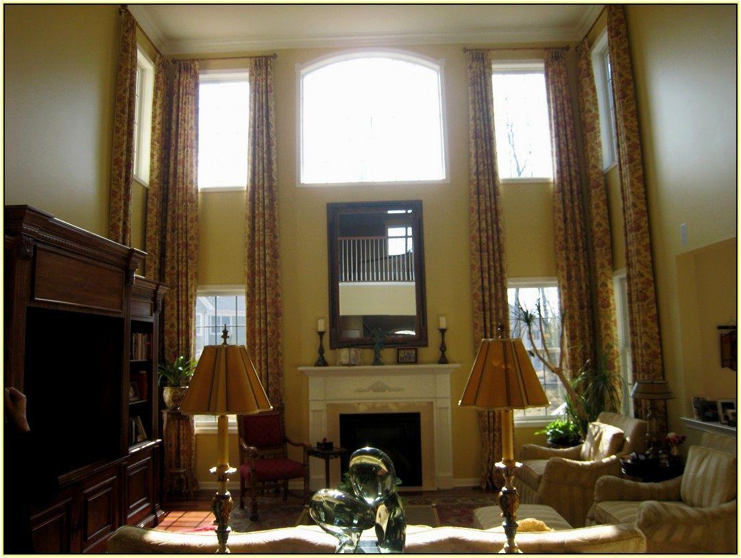 Window · Window Treatment Ideas For Tall Windows ...