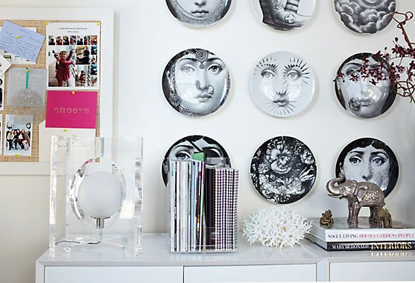 Fornasetti Mobili ~ Dishes are not only reserved for dining areas these fornasetti