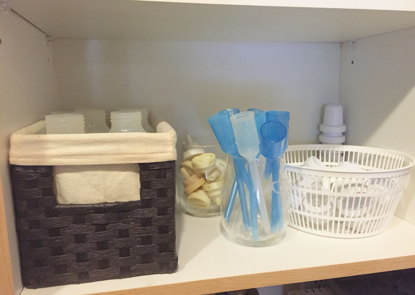 Dr. Brownu0027s bottle storage using stemless wine glasses & Dr. Brownu0027s bottle storage using stemless wine glasses | Pregnancy ...