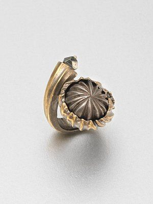 Yves Saint Laurent, Pyrite Snail Ring.